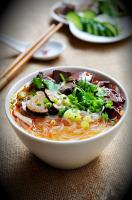 Nanjing's Duck blood and vermicelli soup