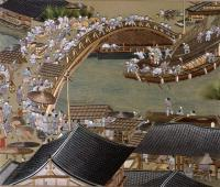 Suzhou embroidery of Ancient People's Busy Life