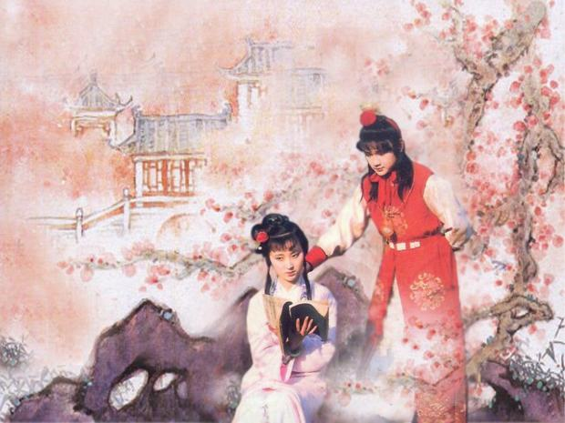 Sister Lin And Jia Baoyu From A Dream in Red Mansions