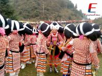 Girls Attended the Tiaohua Festival