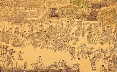 Riverside Scene of Qingming Festival Painting