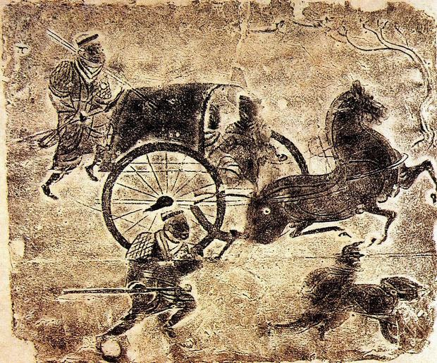 Chinese Paintings of Carriage