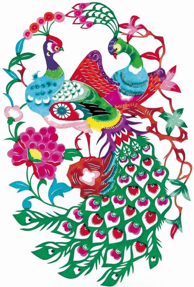 Chinese Paper Cutting Peacock