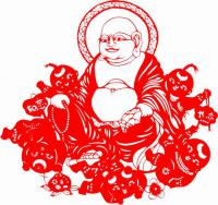 Chinese Paper Cutting Buddha