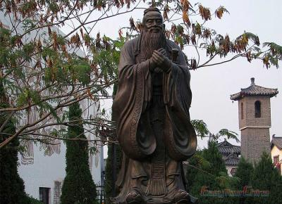 Image of Confucius's Statue in Kong Fu