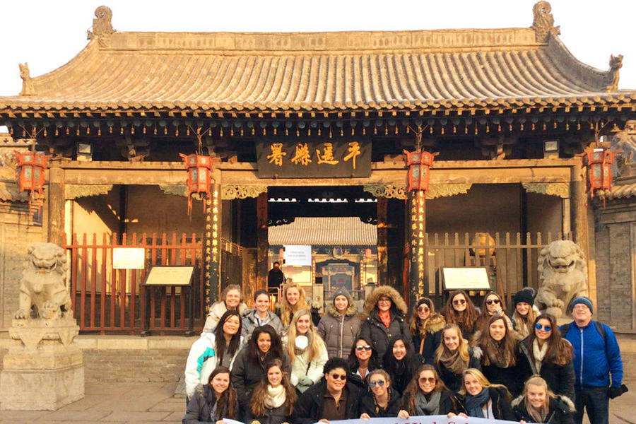 Students Visiting Pingyao Ancient Government Office