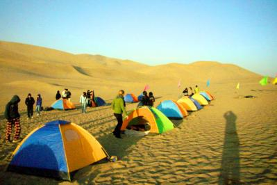 A Camping Holiday in Dunhuang Desert