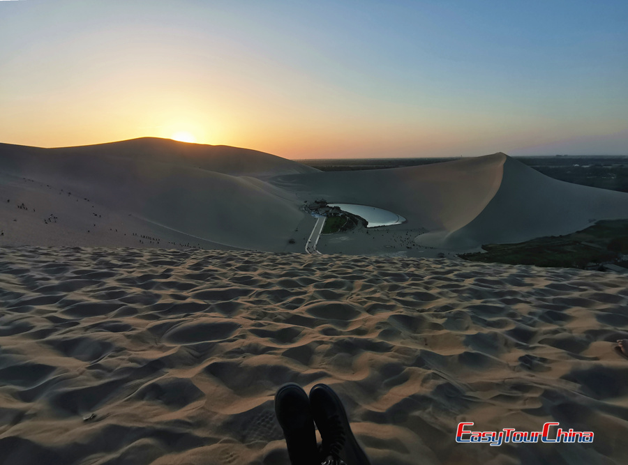 Photo of Sunset in Singing Sand Dune