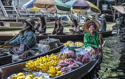 Bangkok Picture & Photo about Damnoen Saduak Floating Market