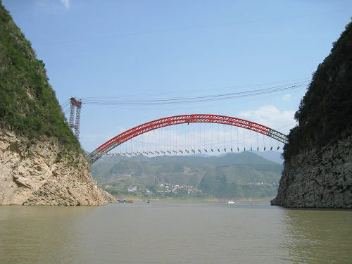 Scenery of Daning River and Less Three Gorges