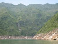 Mountains beside Daning River and Less Three Gorges