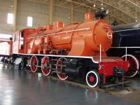 Datong Steam Locomotive Exhibition Hall Orange Painted Locomotive
