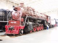 Datong Steam Locomotive Exhibition Hall Red Painted Locomotive