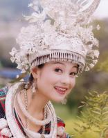Travel Photos of Dong Minority Pretty Lady