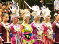 Travel Photos of Dong Minority Ladies with Heavy Silver Headdress