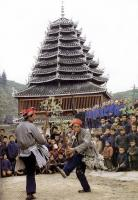 Travel Photos of Dong Minority Lads Playing Reed-pope Wind Instrument