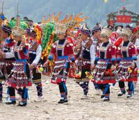 Travel Photos of Dong Minority Dragon Dance