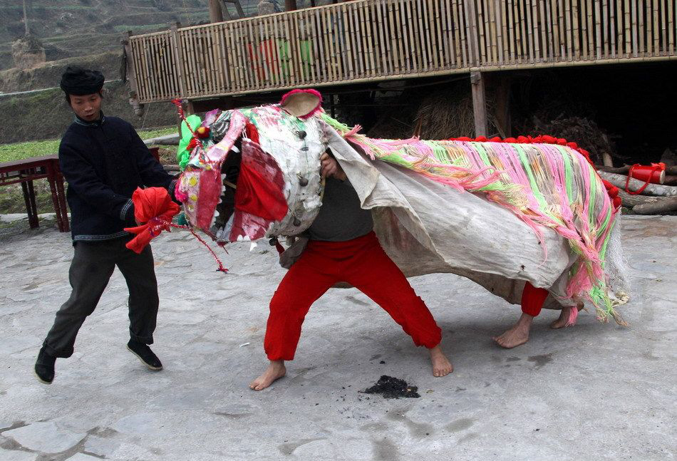 Lion Dance in Village