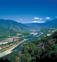 Dujiangyan Irrigation Project Bird's View