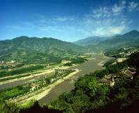 Dujiangyan Irrigation Project Aerial View