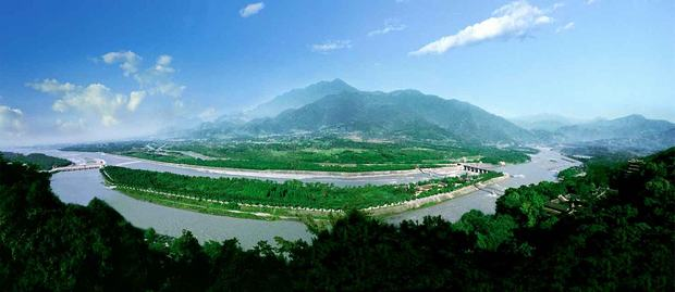 Dujiangyan Irrigation Project Panorama
