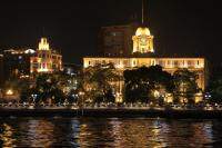 Evening cruise on Pearl River Magnificent Building at Bankside,
