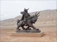 sculptures at flaming mountain