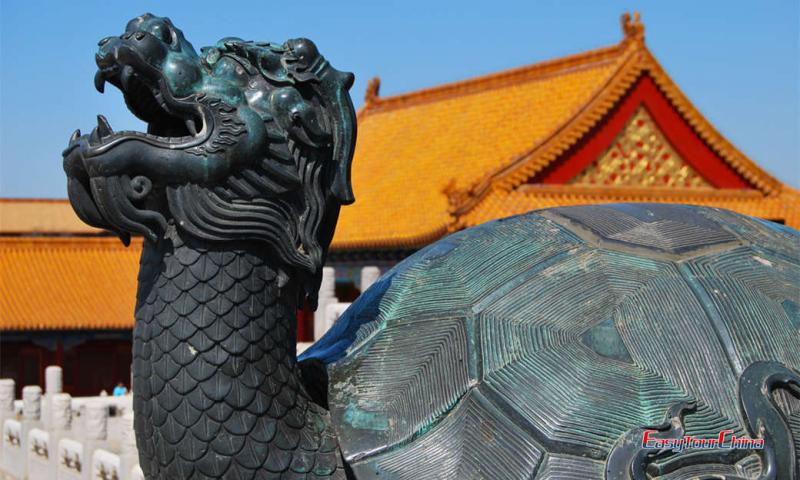 Turtle statue at Forbidden City