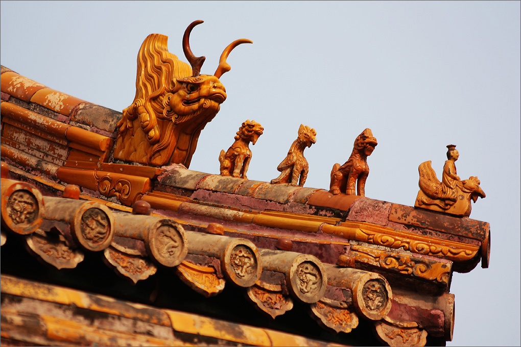 The roof of Forbidden City