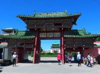 Entrance to Gandan Khiid, Ulaanbaatar, Mongolia