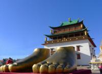 Large Feet at Gandantegchilen Monastery Mongolia