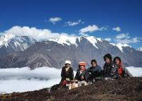 Tibetan People & Snow Mountain