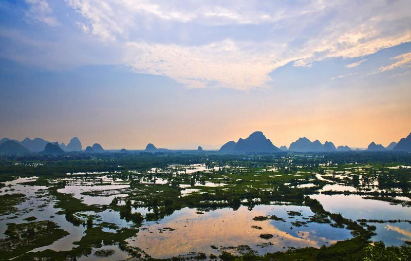 Guilin Huixian Wetland Park Officially Become National Wetland Park