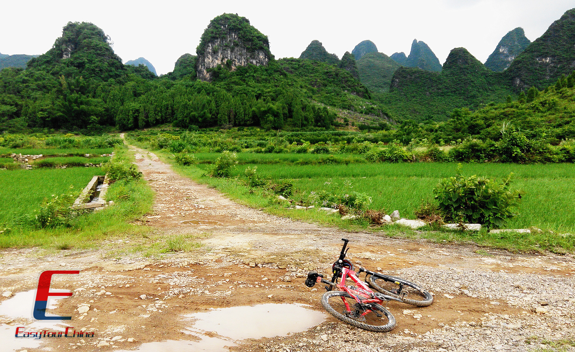Biking in the Mountain Area of Guilin