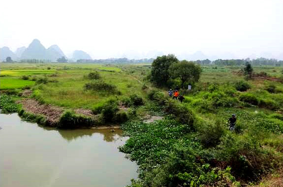 Guilin Biking to Huixian Wetlands