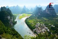 a panoramic view of Li River