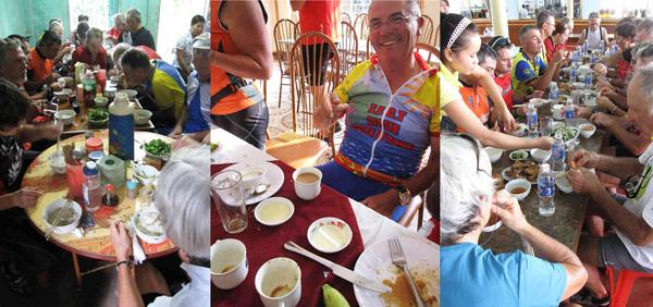 food while cycling in China