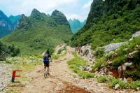 Bike through Guilin Mountains