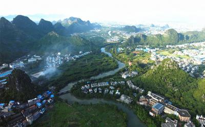 Aerial photography trip of Guilin