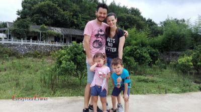Brazilian Family with Kids Travel in Guilin