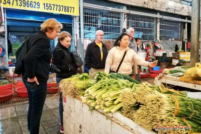 Clients Visit the Local Market in Yangshuo