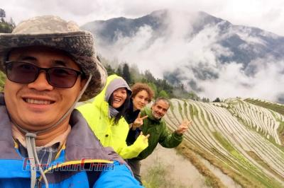 French Customers Traveled to Longji Rice Terraces in 2018