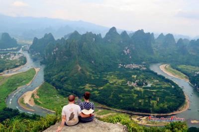 Overlooking Guilin Karst Landscape