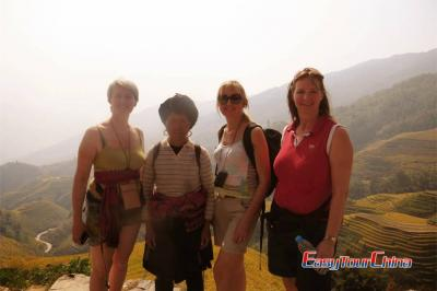 Family from Netherlands Visiting Longji Rice Terraced Fields