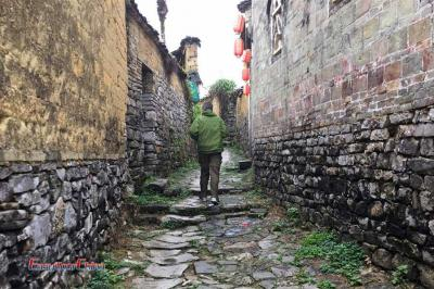 French Client Explore Old Village of Yangshuo