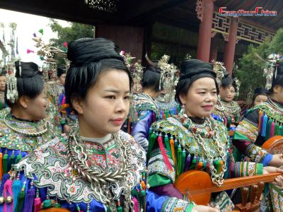 Dong Girls Dress Up to Celebrate Samar Festival