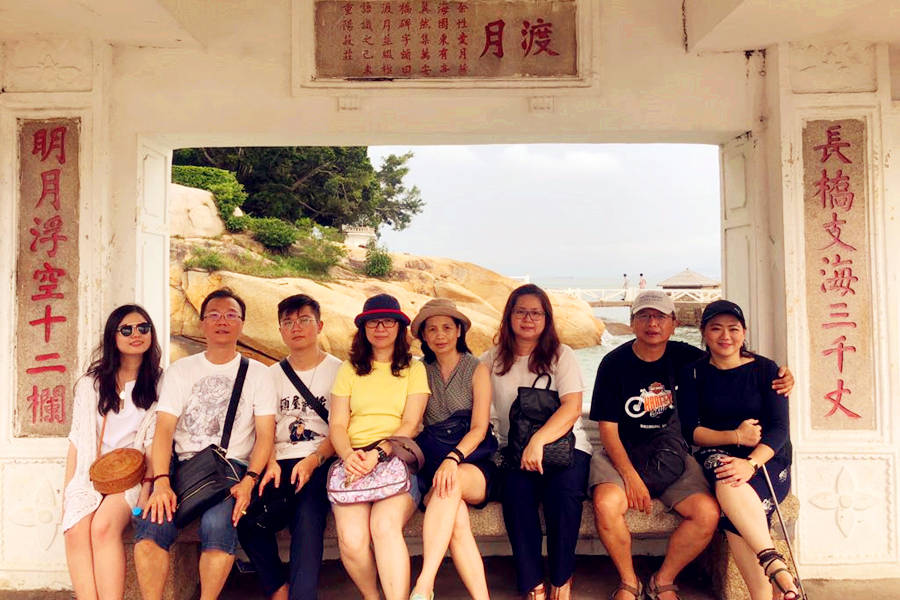 Customers from Indonesia Visiting Gulangyu Island