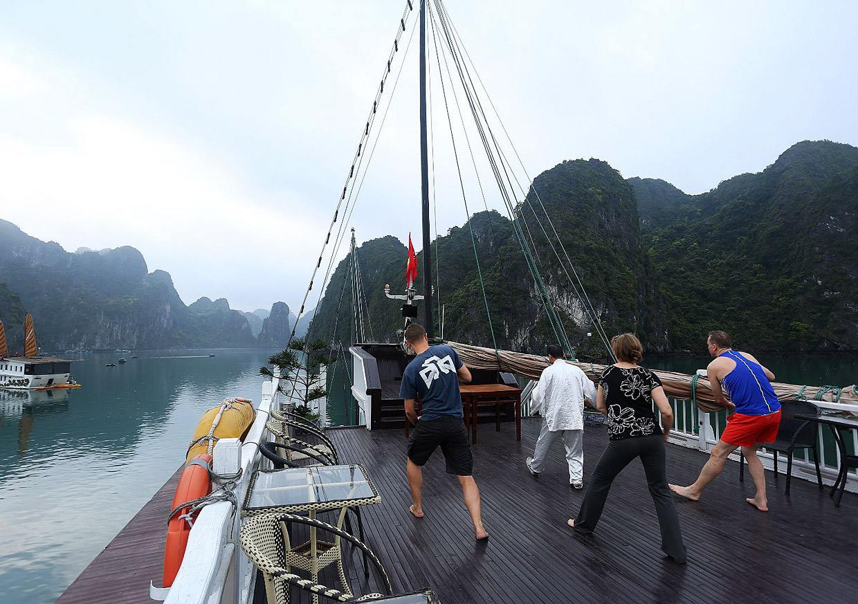Deck of Halong Bay Cruise