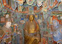 Hanging Monastery at Mount Heng Sculpture
