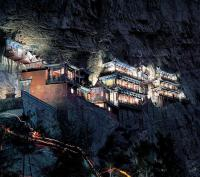 Hanging Monastery at Mount Heng Night View